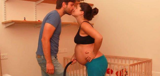 Pareja israelí y el vídeo 42 semanas de embarazo en 1 minuto