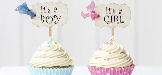 pasteles para saber el sexo del bebé