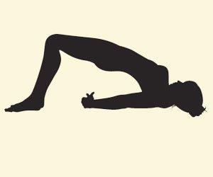 Embarazada yoga postura puente