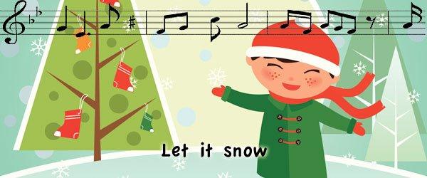 Let snow villancicos en inglés
