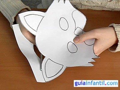 Antifaz de gato paso 1