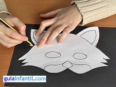 Antifaz de gato paso 2