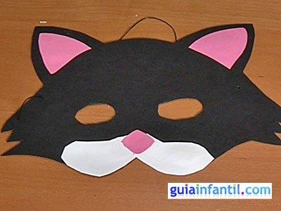 Antifaz de gato paso 6