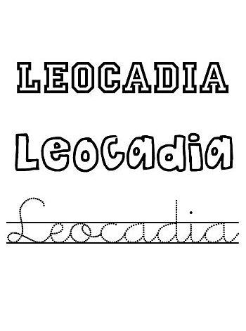 Día de santa Leocadia, 9 de diciembre, nombres de niño