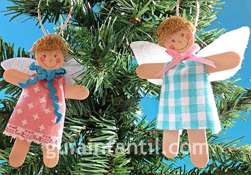 Ángel de Navidad. Manualidad para niños. Paso 4