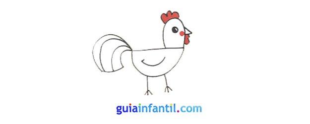 Cómo dibujar, paso a paso, un gallo.