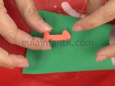 Calendario de Adviento con rollos de papel. Paso 2