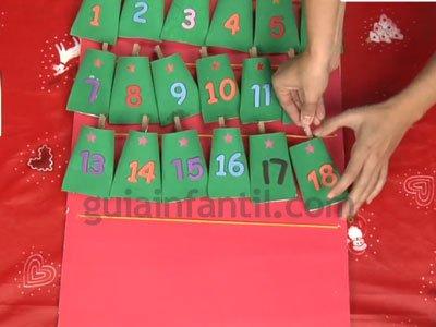 Calendario de Adviento con rollos de papel. Paso 5