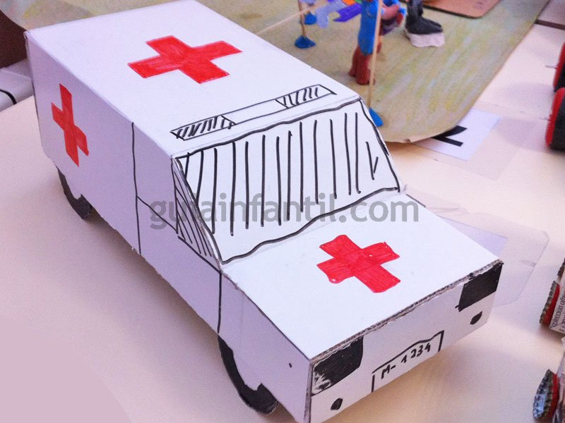 Manualidades Infantiles De Reciclaje Medios De Transporte Con Carton