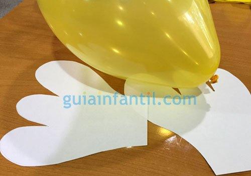 Ángel de globos. Paso 1