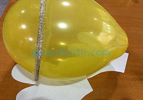 Ángel de globos para Navidad. Paso 2