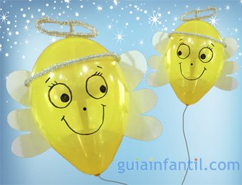 Ángel de globos para la Navidad