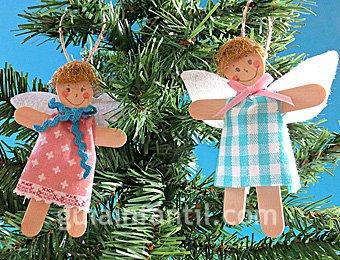 Ángel de palo para la Navidad