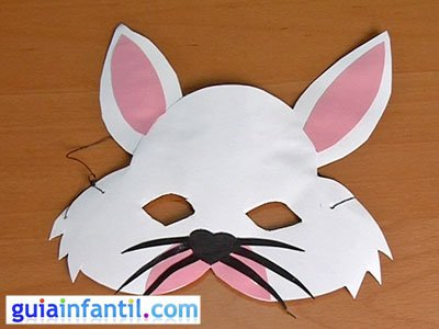 Antifaz de conejo paso 6