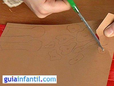 Antifaz jirafa paso 3