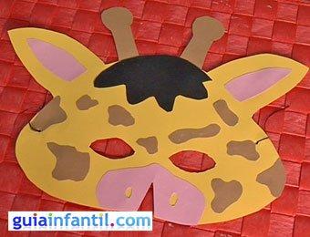 Antifaz de jirafa