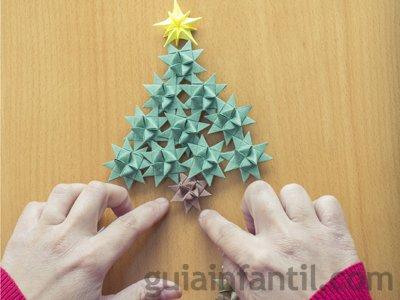 Árbol de Navidad. Paso 2.