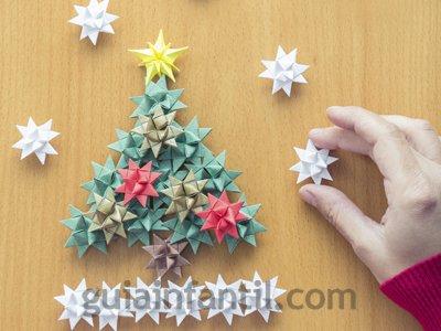 Árbol de Navidad. Paso 3.
