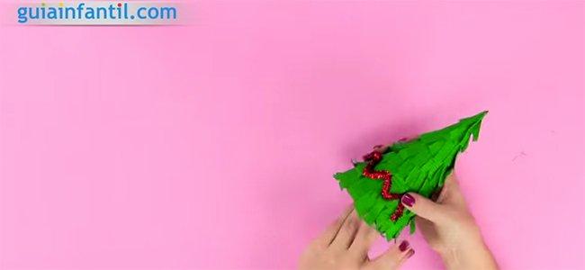 Árbol con flecos. Paso 3