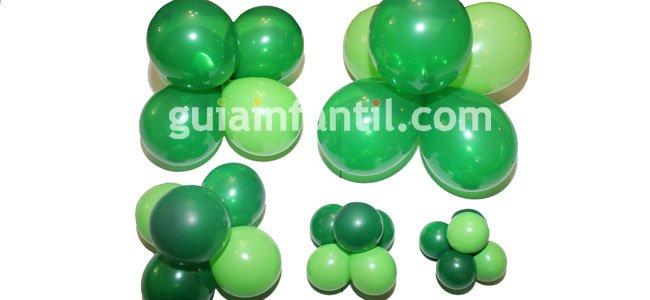 Árbol de Navidad con globos. Paso 1