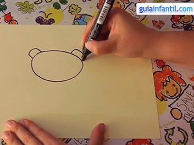 Dibujar una ardilla. Paso 1.