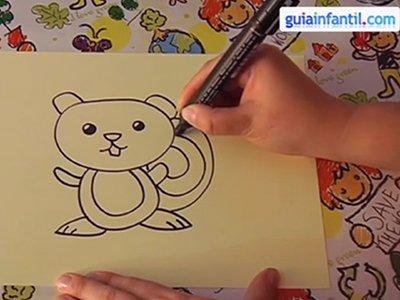 Dibujar una ardilla. Paso 4.