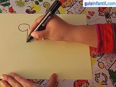 Dibujar una avestruz. Paso 1.