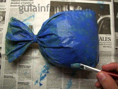 Manualidad ballena de papel. Paso 2.