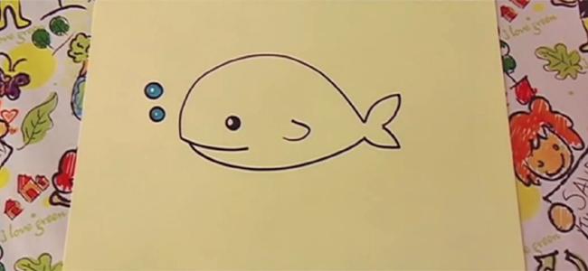 dibujar una ballena