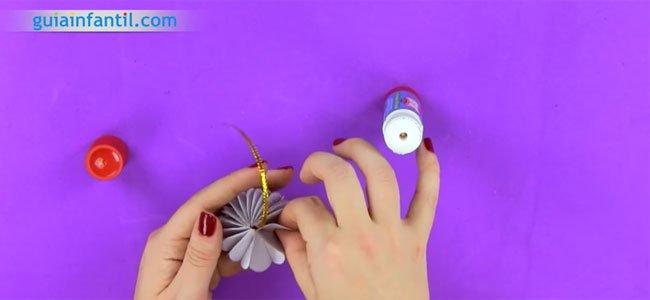 Bola de origami paso a paso. Paso 5