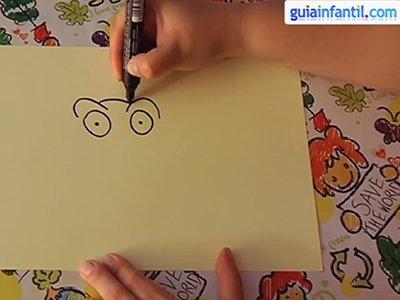 Dibujar un búho. Paso 1.