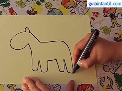 Dibujar un caballo. Paso 2.