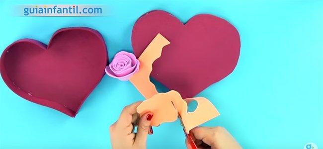 Caja de corazón. Paso 4