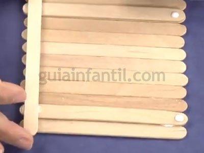 caja de madera de reciclaje paso