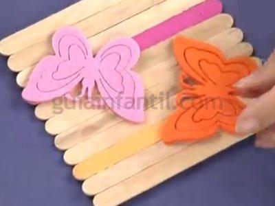 Caja de los tesoros con palos de helado manualidades de - Como hacer una caja de madera paso a paso ...