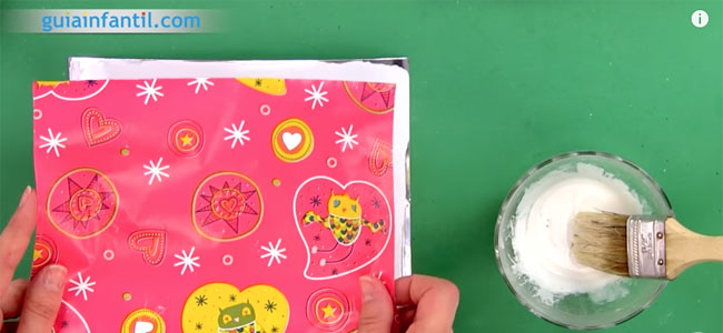 Caja tarjeta sorpresa para mamá. Paso 1