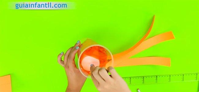 Cómo hacer una linterna calabaza. Paso 2