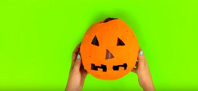 Calabaza de Halloween portavelas. Paso 3