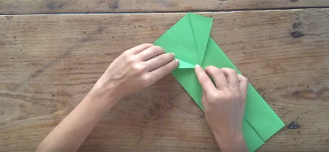 Camisa de origami para papá. Paso 1