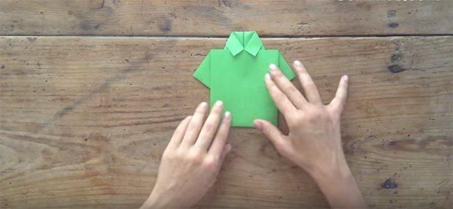 Camisa de origami para papá. Paso 3