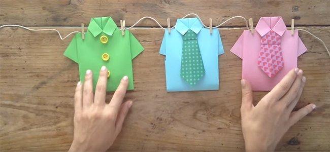 Camisa de origami para papá. Paso 5