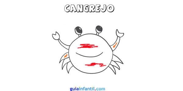 Dibujo de un cangrejo.