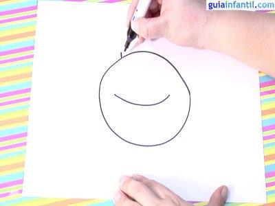 Dibujo de un cangrejo.Paso1.