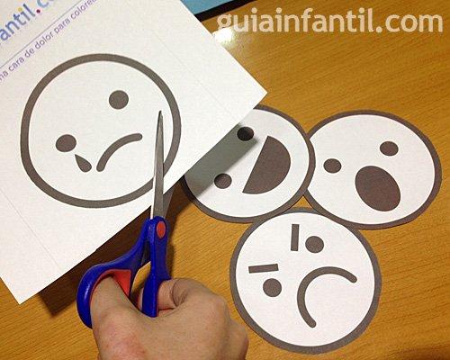 Manualidad para niños. Caritas para aprender las emociones