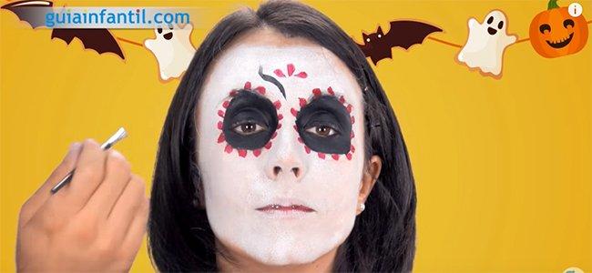 Maquillaje de Catrina. Paso 4