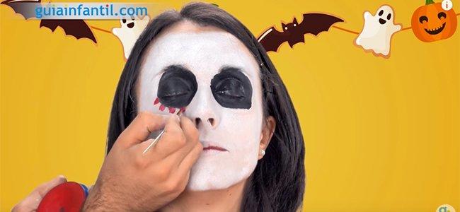 Maquillaje de Catrina. Paso 3