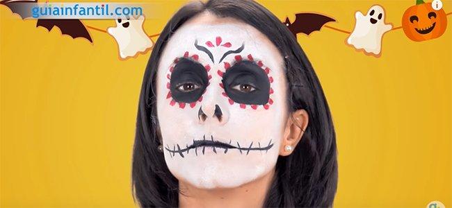 Maquillaje de Catrina. Paso 5