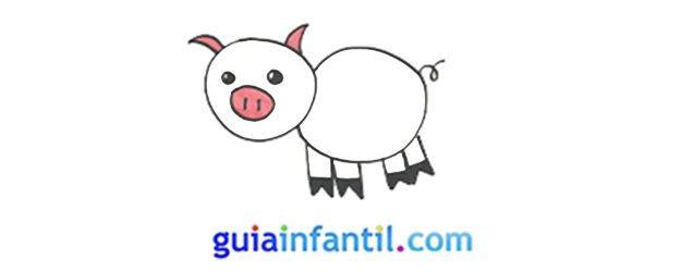 Cómo dibujar, paso a paso, un cerdo.