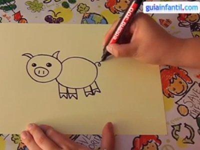 Aprende a dibujar un cerdo. Paso 3.