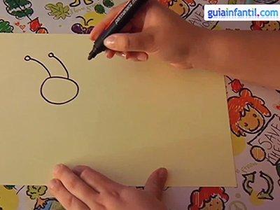 Dibujar un ciempiés. Paso 1.